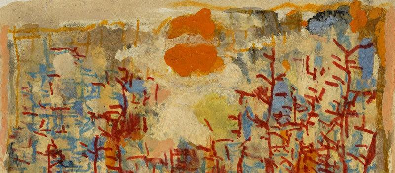 Journal, 20 août 1963 (détail) – Huile et crayon feutre sur aggloméré, 20 x 22,8 cm – Coll. Part. – Bissière cat. raisonné n° 2809