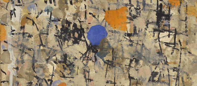 Journal, 8 novembre 1963 (détail) – Huile sur panneau, 37 x 22 cm – Coll. Part. – Bissière cat. raisonné n° 2826