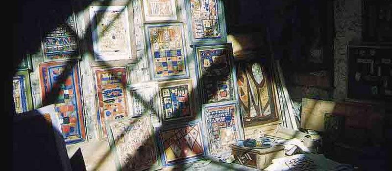 L'atelier de Bissière à Boissièrette, vers 1952 © Luc Joubert