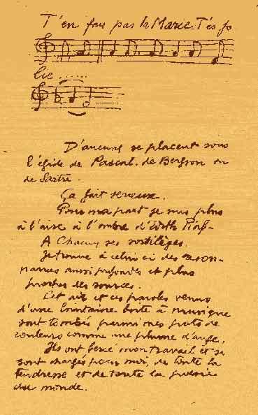 Manuscrit de Bissière, Cat. Drouin, 1947