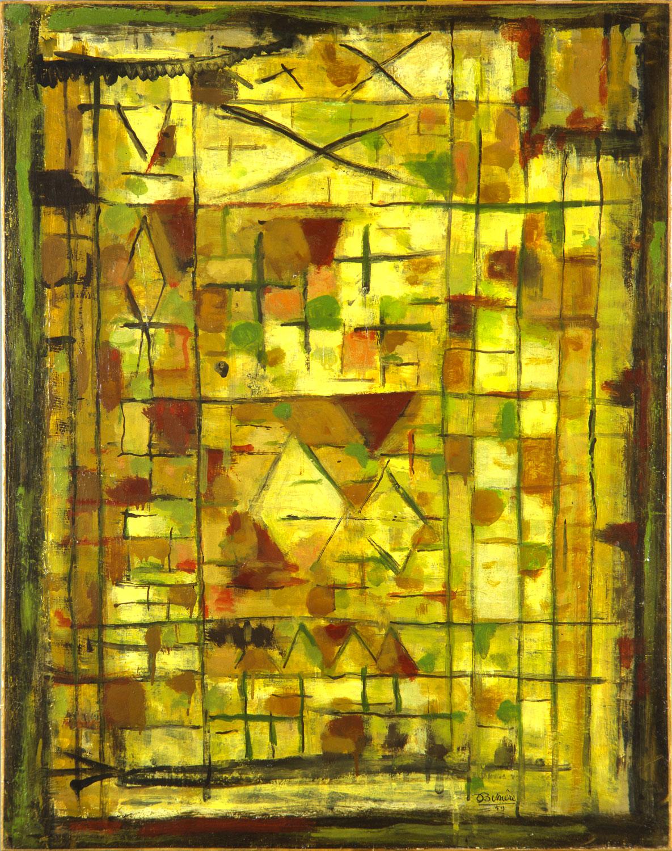 La saveur d'Yquem, 1959 - Huile sur panneau, 92 x 73 cm - Coll. part. - Bissière cat. raisonné 2504
