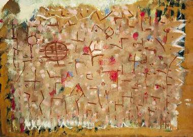 Ocre et rose, 1964 - Huile sur toile, 65 x 92 cm - Coll. Part. - Bissière cat. raisonné n° 2834