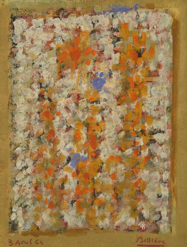 Journal, 3 avril 1964 - Huile sur panneau, 35 x 26,8 cm - Coll. Part. - Bissière cat. raisonné n° 2869
