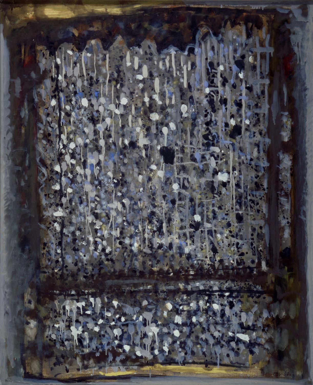 Silence du crépuscule, 1964 - Huile sur toile, 100 x 81 cm - Coll. part. - Bissière cat. raisonné n° 2909