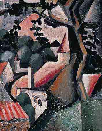 Paysage, 1918 - Huile sur toile, 58 x 45 cm - Musée des beaux-arts, Agen - Bissière cat. raisonné n° 39