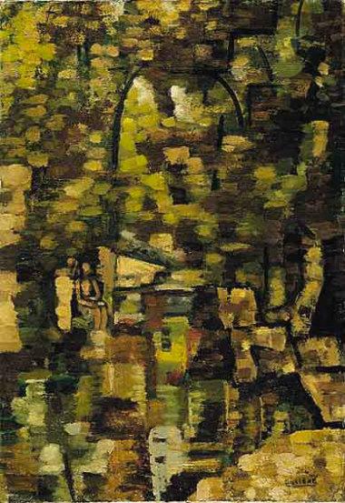 Paysage, 1927 - Huile sur toile, 55 x 38 cm - Coll. Part. - Bissière cat. raisonné n° 601