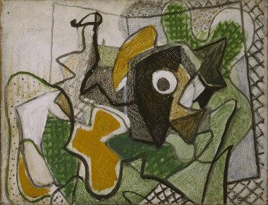 Nature morte à la carafe, vers 1933 - Huile sur toile, 35 x 46 cm - Coll. part. - Bissière cat. raisonné n° 719