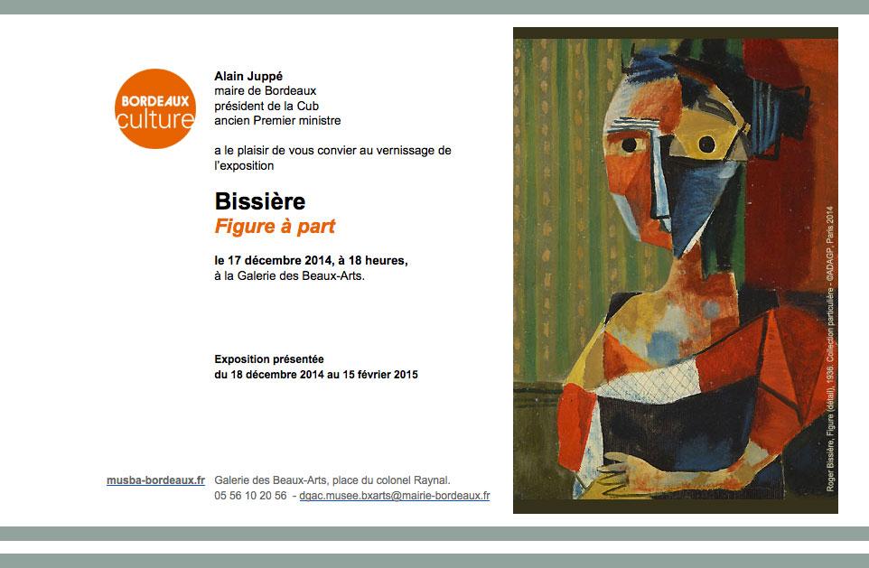"""Vernissage de l'exposition """"BIssière, Figure à part"""" à Bordeaux"""